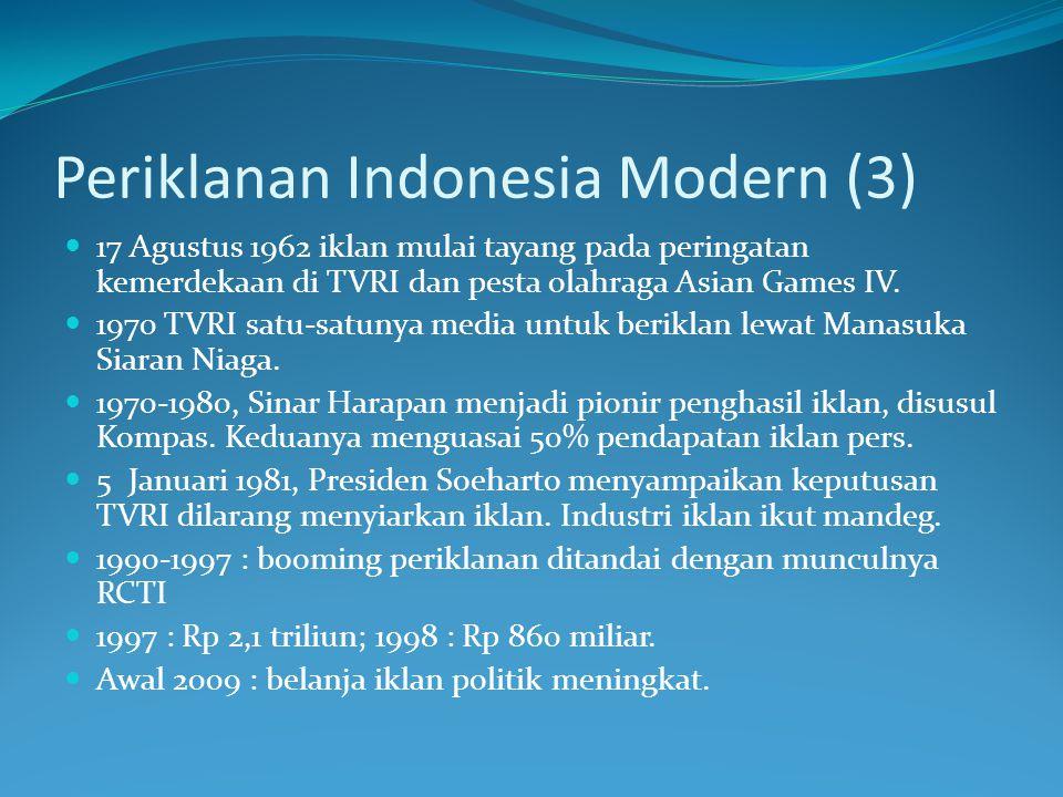 Periklanan Indonesia Modern (3)