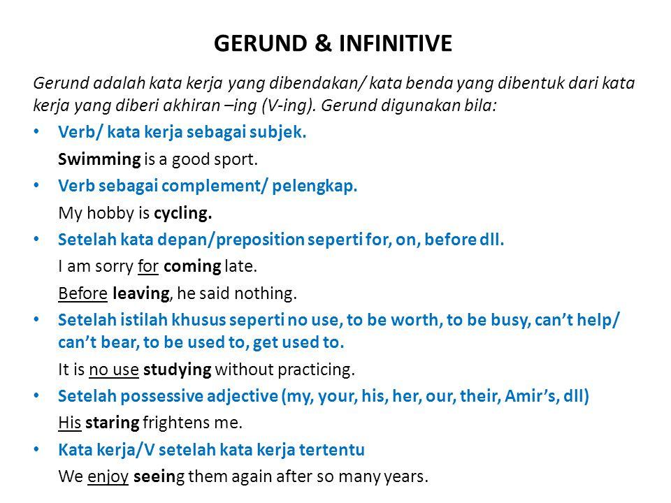 GERUND & INFINITIVE