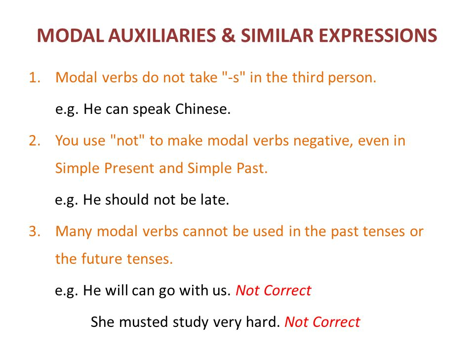 MODAL AUXILIARIES & SIMILAR EXPRESSIONS