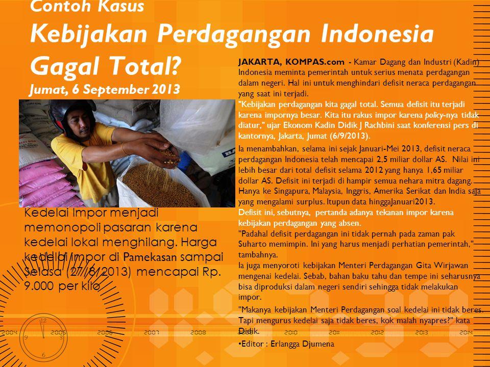 Contoh Kasus Kebijakan Perdagangan Indonesia Gagal Total