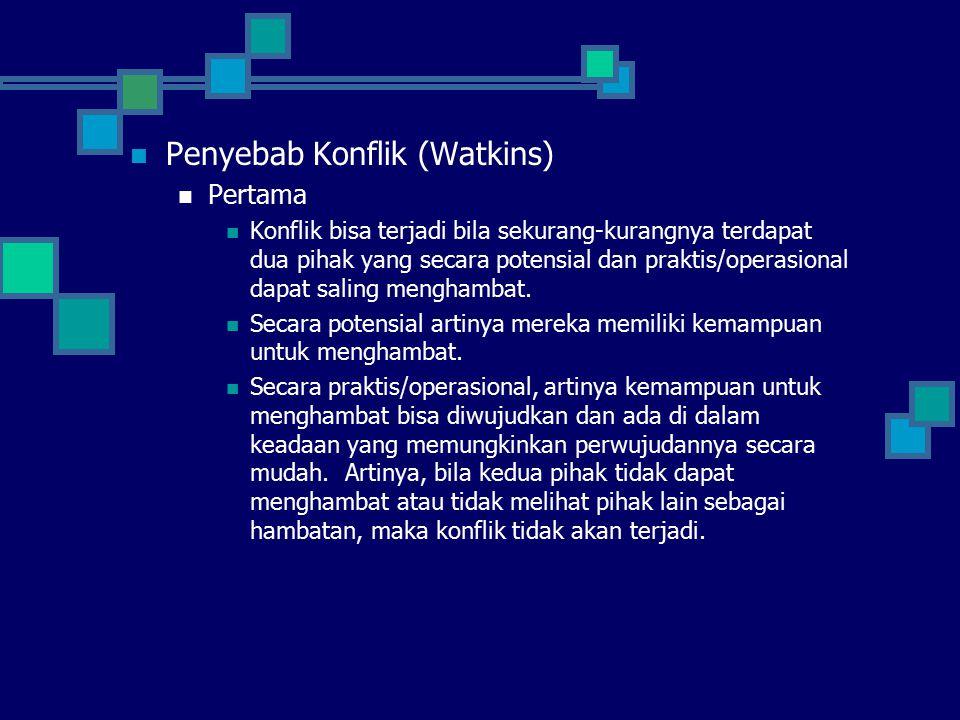Penyebab Konflik (Watkins)