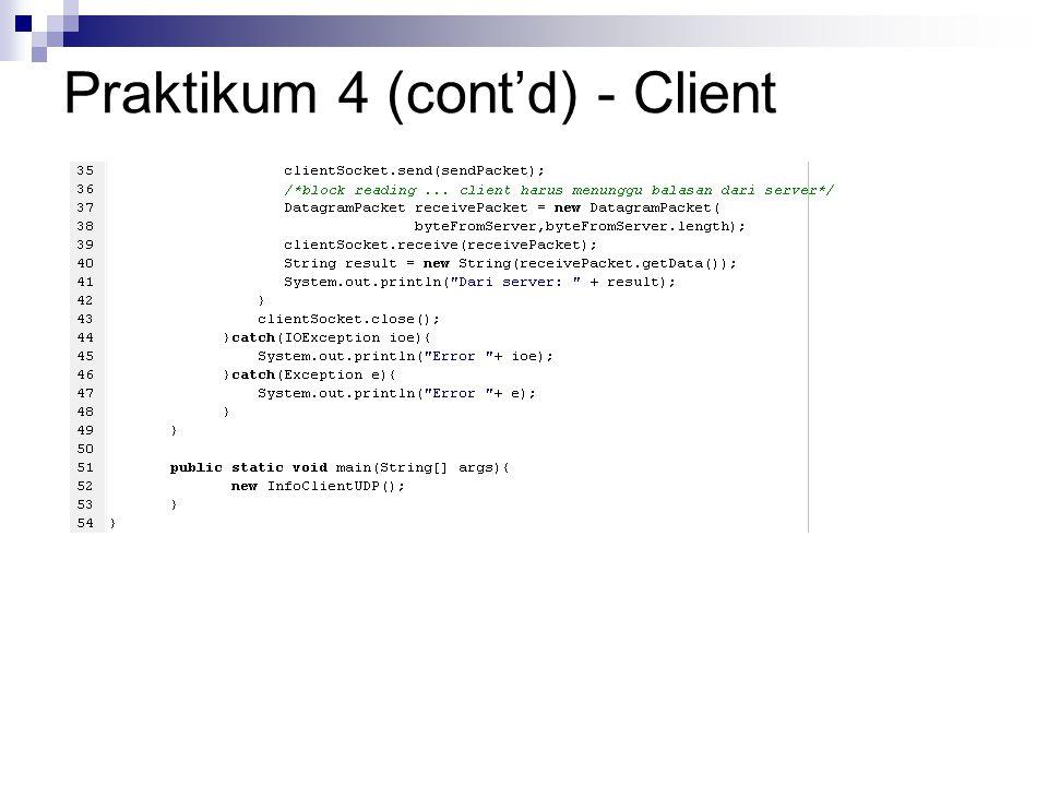 Praktikum 4 (cont'd) - Client