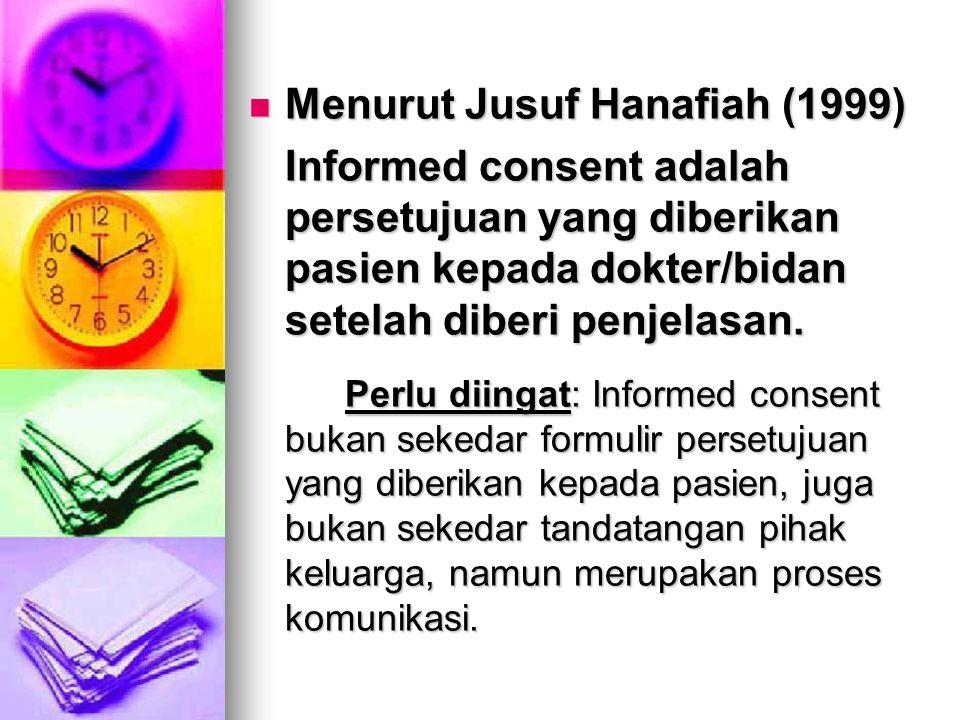 Menurut Jusuf Hanafiah (1999)
