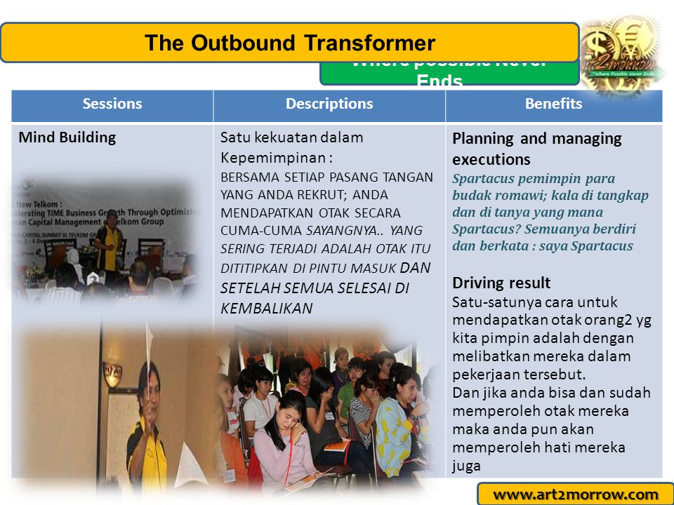 The Outbound Transformer Where possible Never Ends…