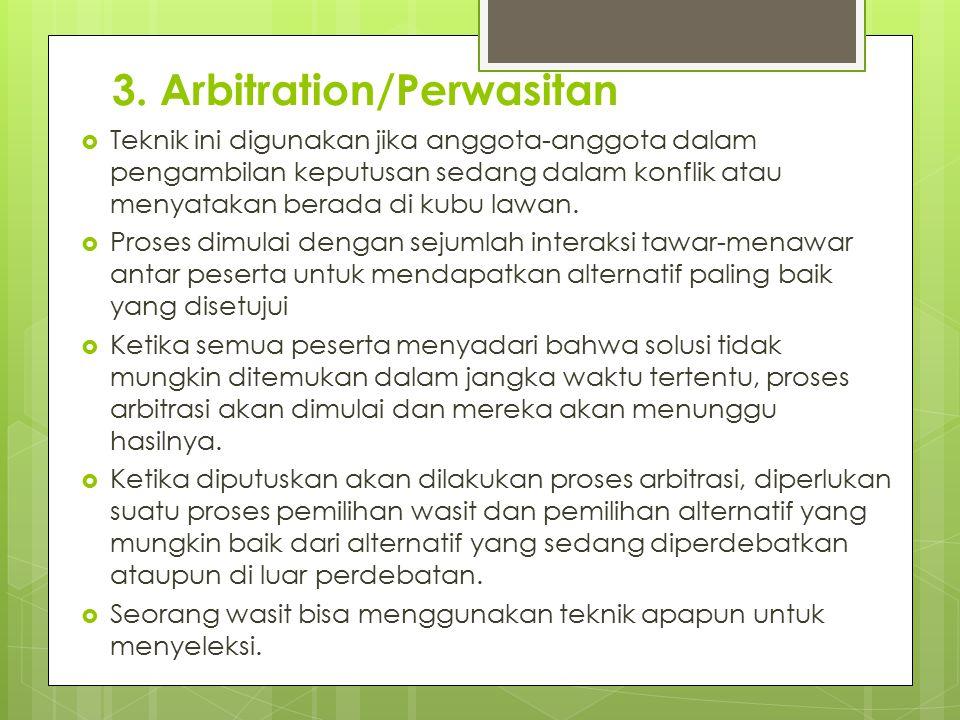 3. Arbitration/Perwasitan