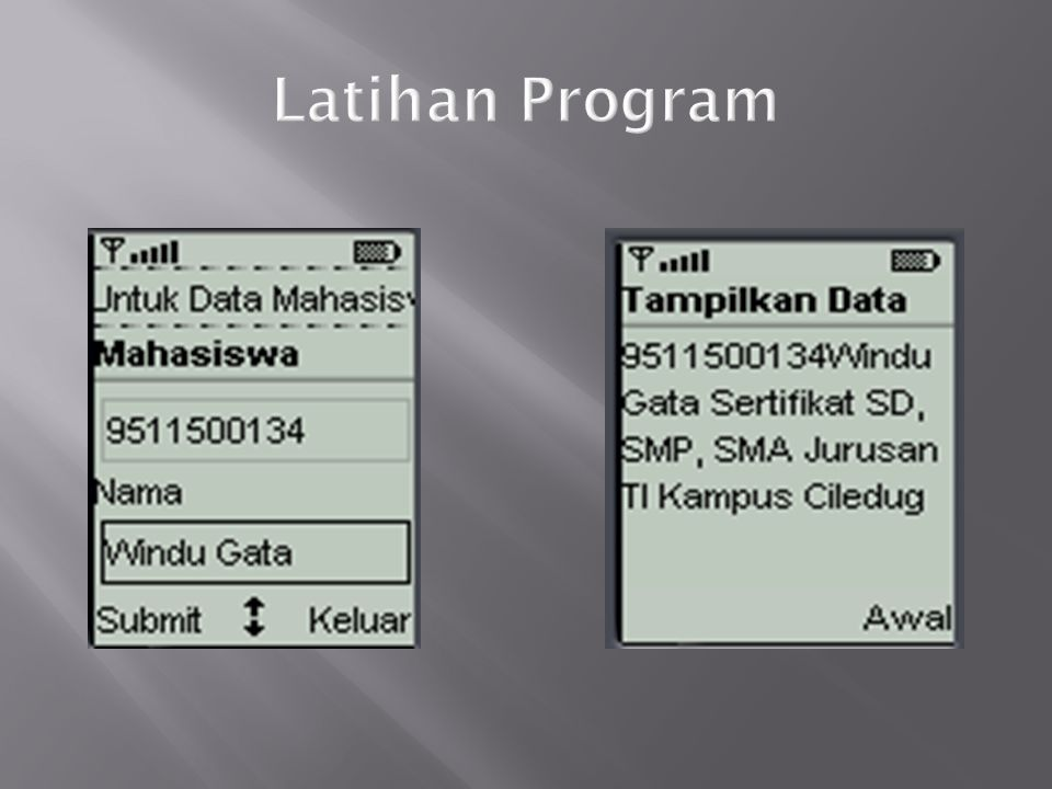 Latihan Program