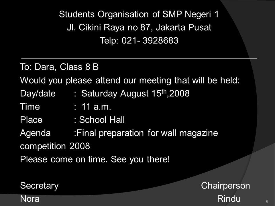 Students Organisation of SMP Negeri 1 Jl