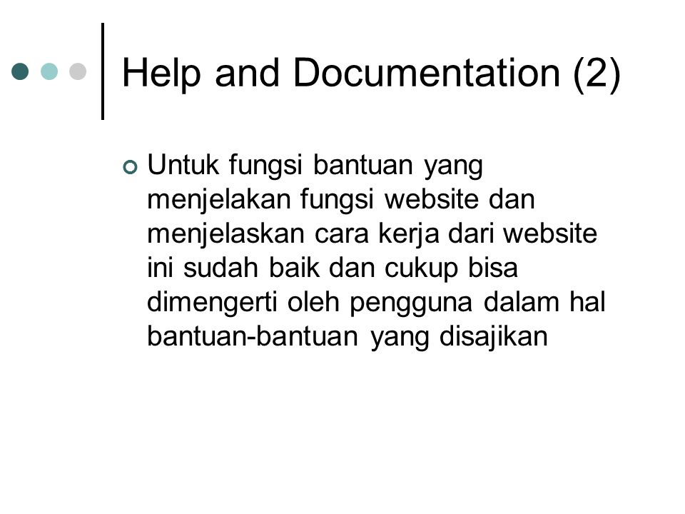 Help and Documentation (2)