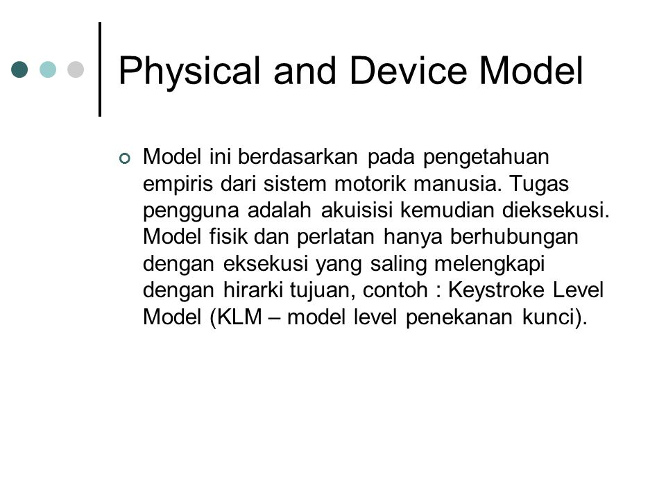 Physical and Device Model