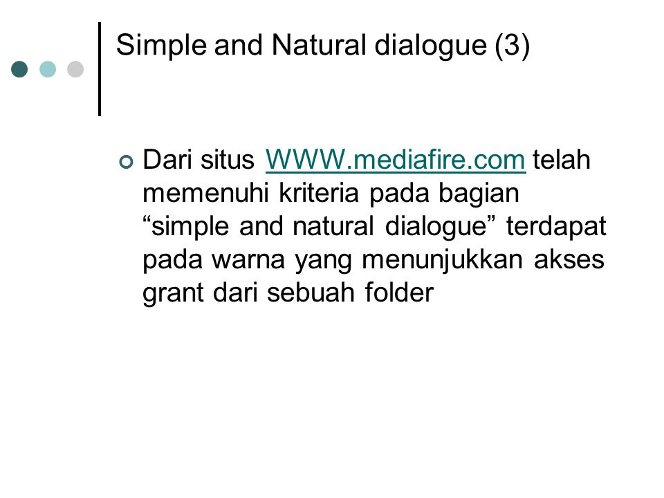 Simple and Natural dialogue (3)