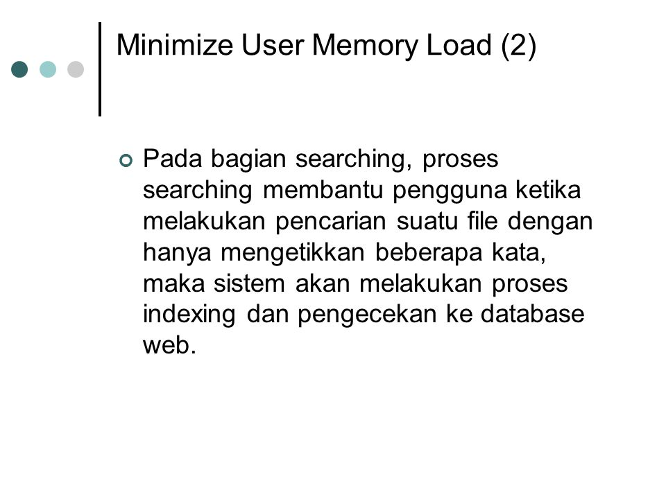 Minimize User Memory Load (2)