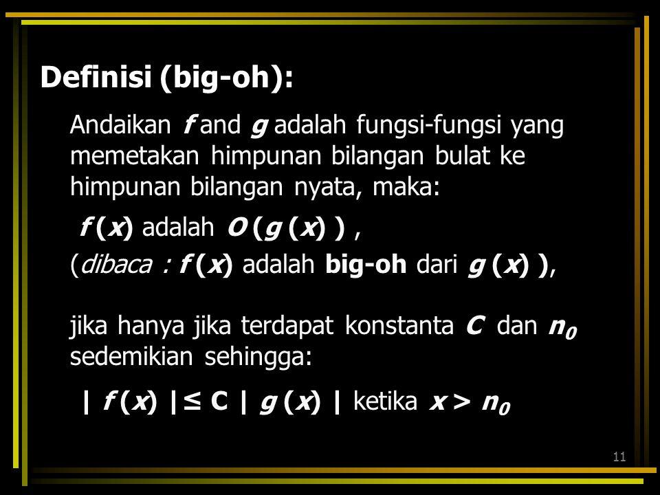 Definisi (big-oh):