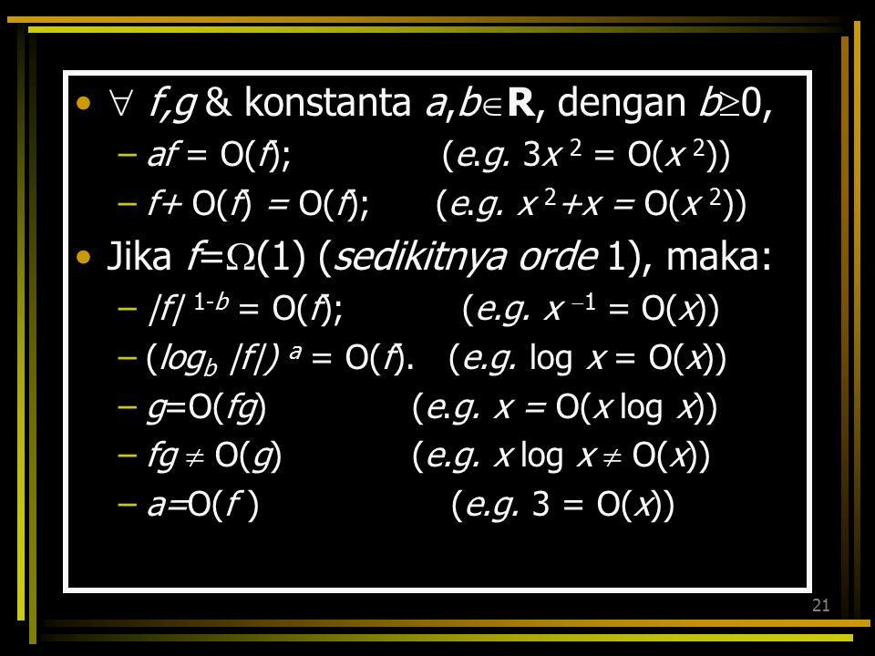  f,g & konstanta a,bR, dengan b0,