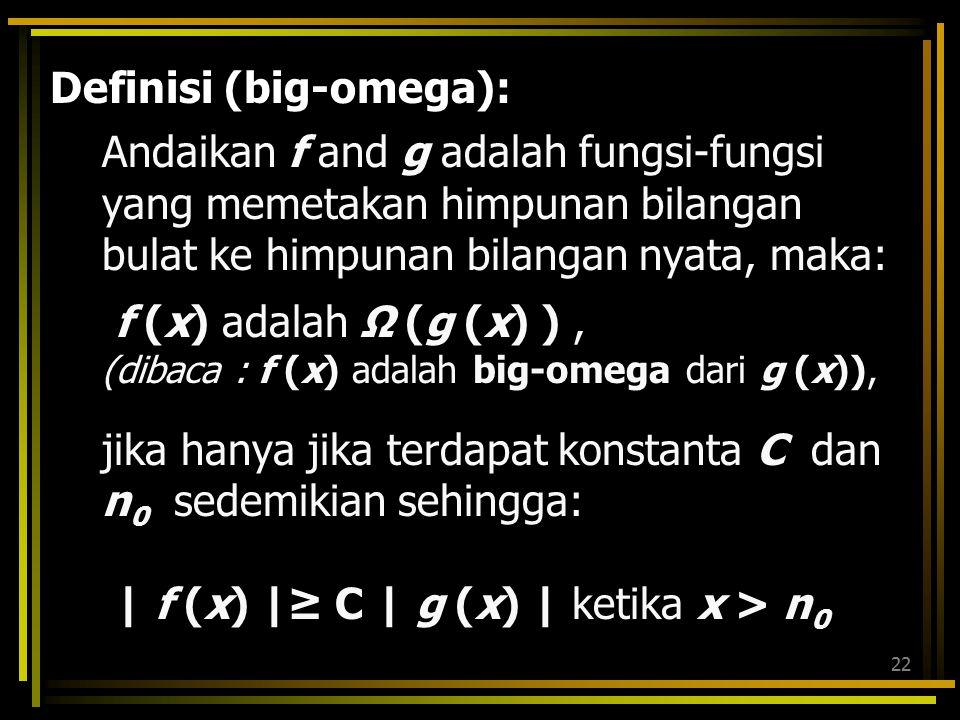 Definisi (big-omega):