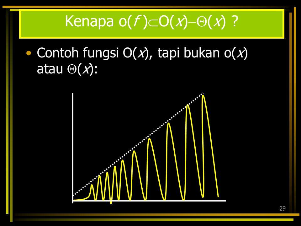 Kenapa o(f )O(x)(x)