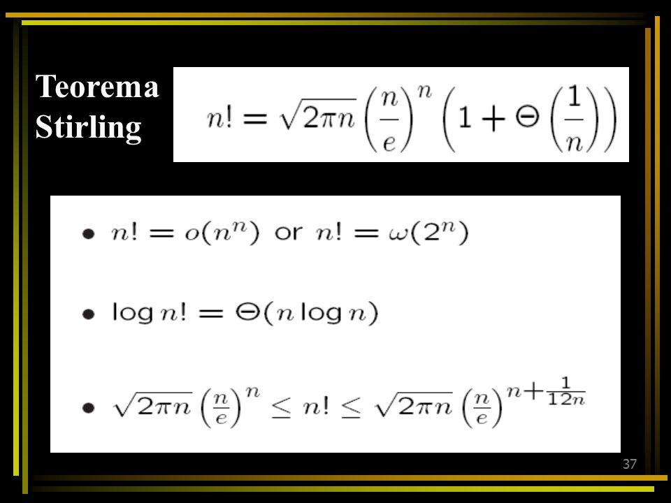 Teorema Stirling