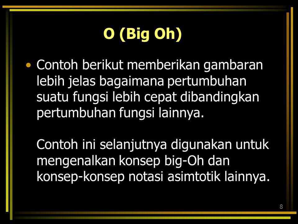 O (Big Oh)