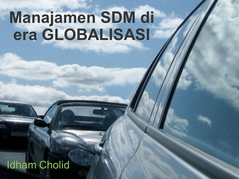 Manajamen SDM di era GLOBALISASI