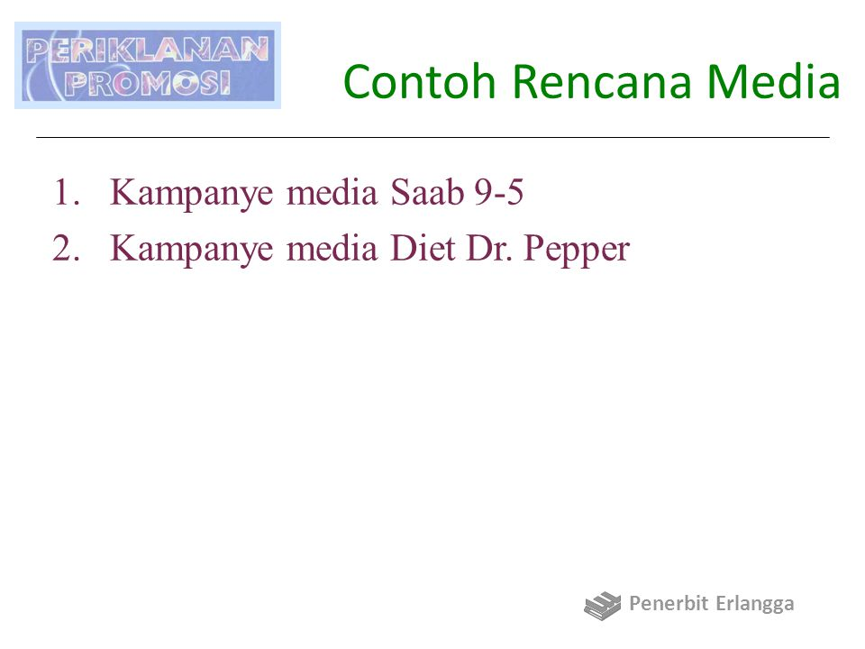 Contoh Rencana Media Kampanye media Saab 9-5