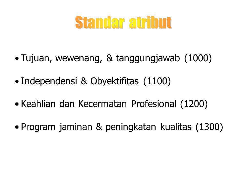 Standar atribut Tujuan, wewenang, & tanggungjawab (1000)