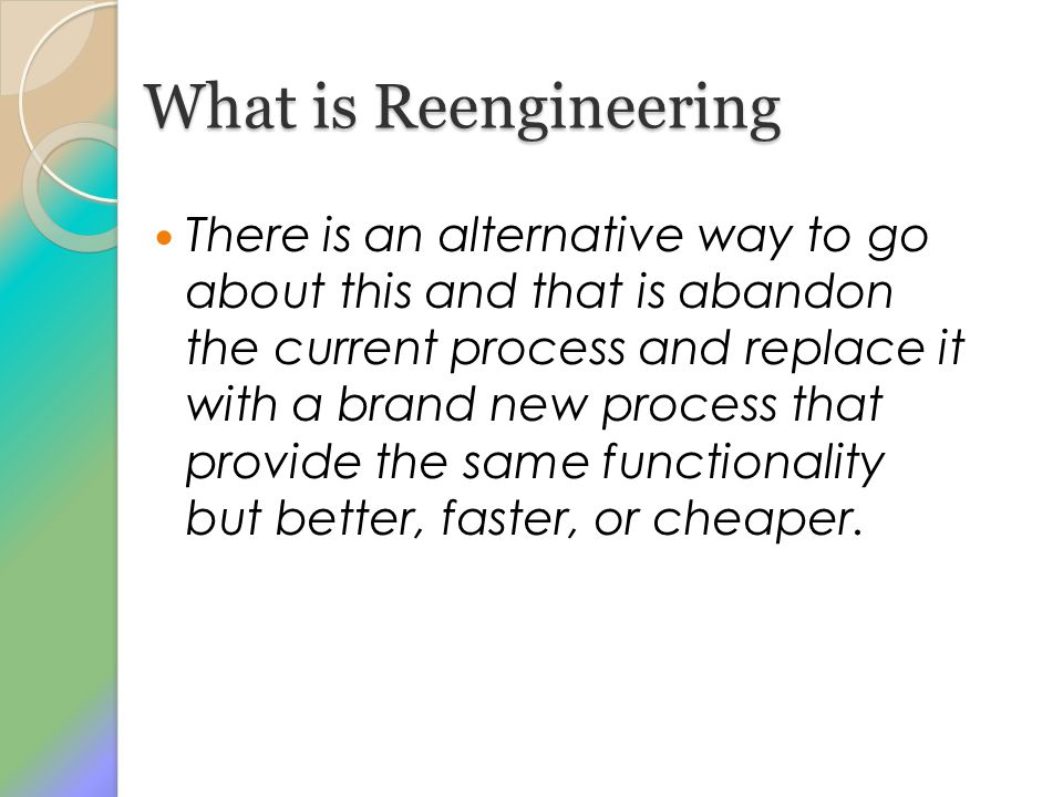 What is Reengineering