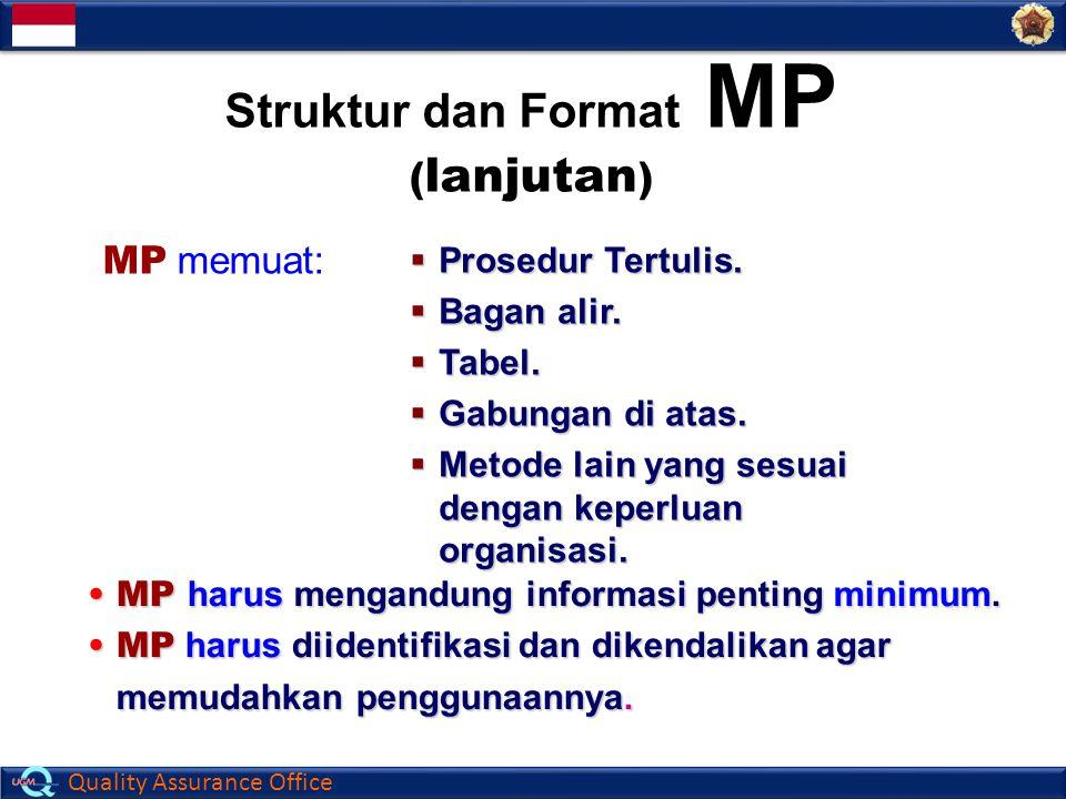 Struktur dan Format MP (lanjutan)