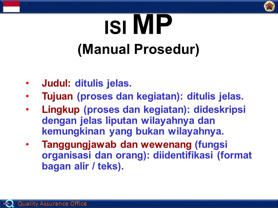 ISI MP (Manual Prosedur)