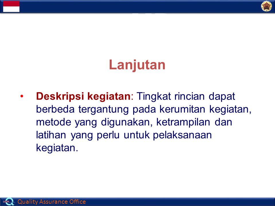 ISI MP (Manual Prosedur) Lanjutan