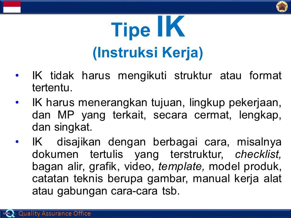 Tipe IK (Instruksi Kerja)