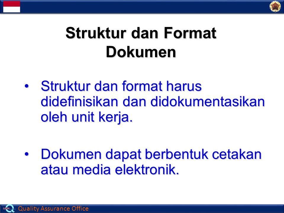 Struktur dan Format Dokumen