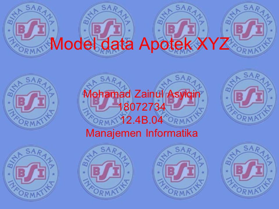 Mohamad Zainul Asyiqin 18072734 12.4B.04 Manajemen Informatika