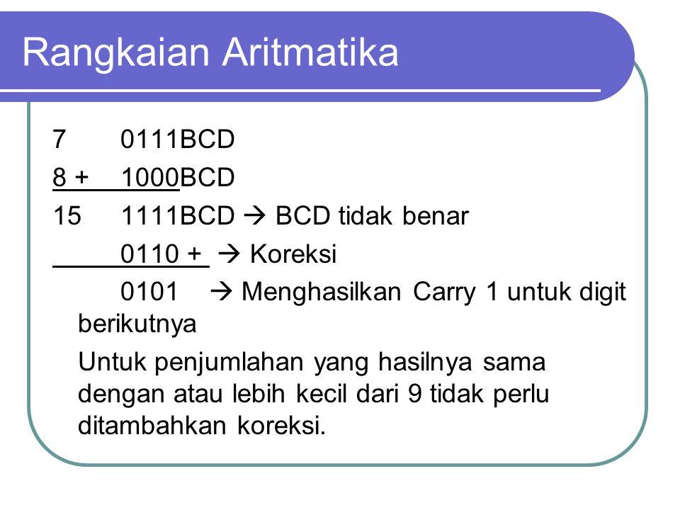 Rangkaian Aritmatika 7 0111BCD 8 + 1000BCD
