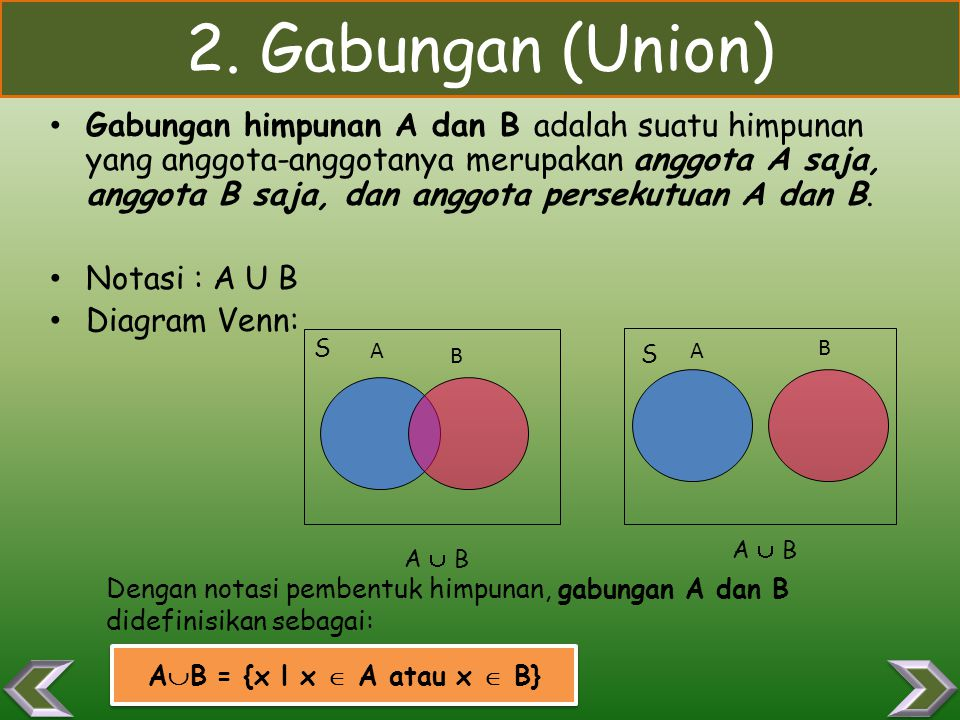2. Gabungan (Union)