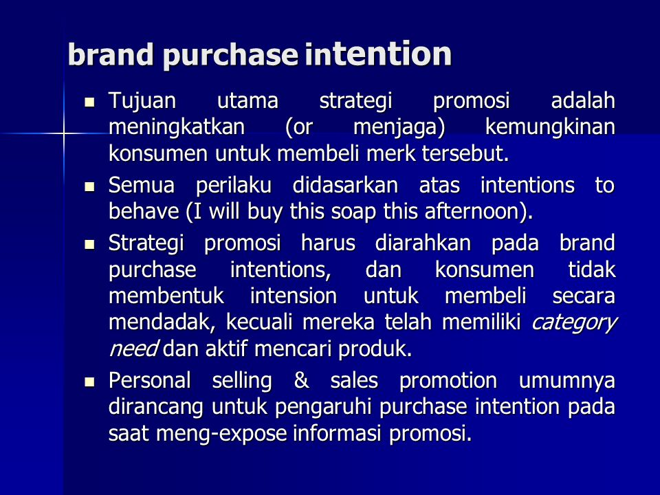 brand purchase intention