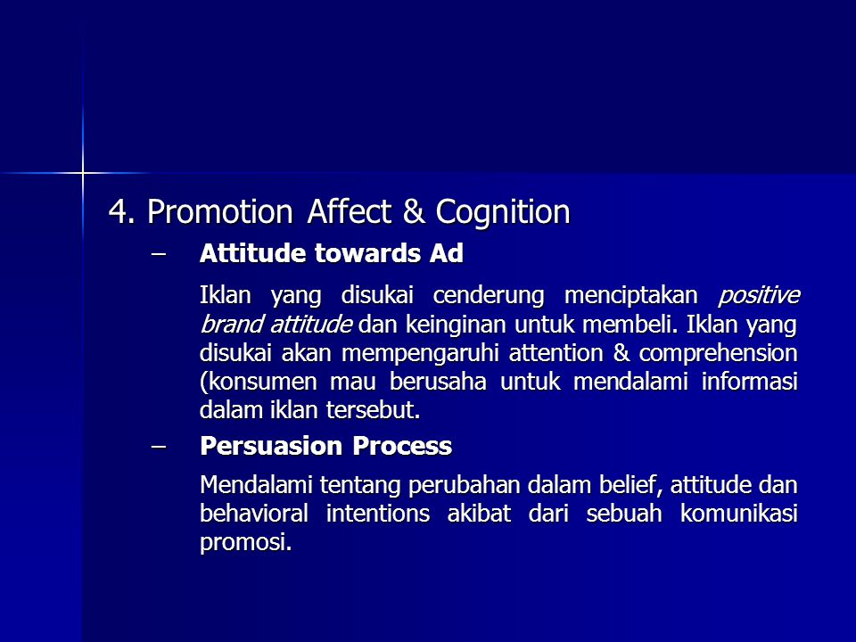 4. Promotion Affect & Cognition