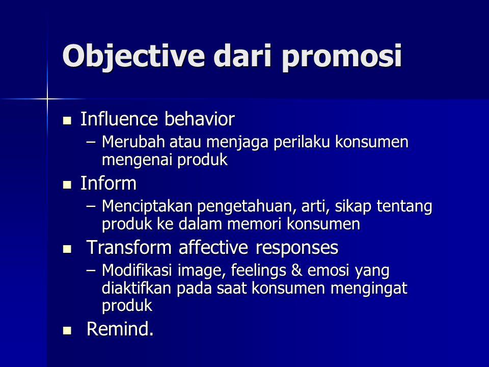 Objective dari promosi