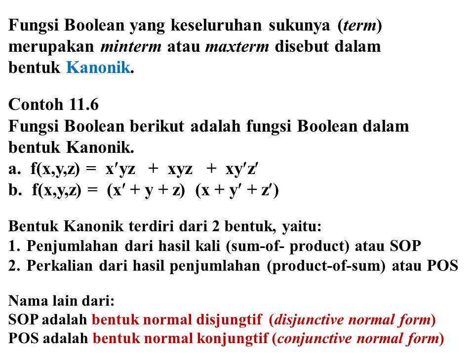 Fungsi Boolean yang keseluruhan sukunya (term)