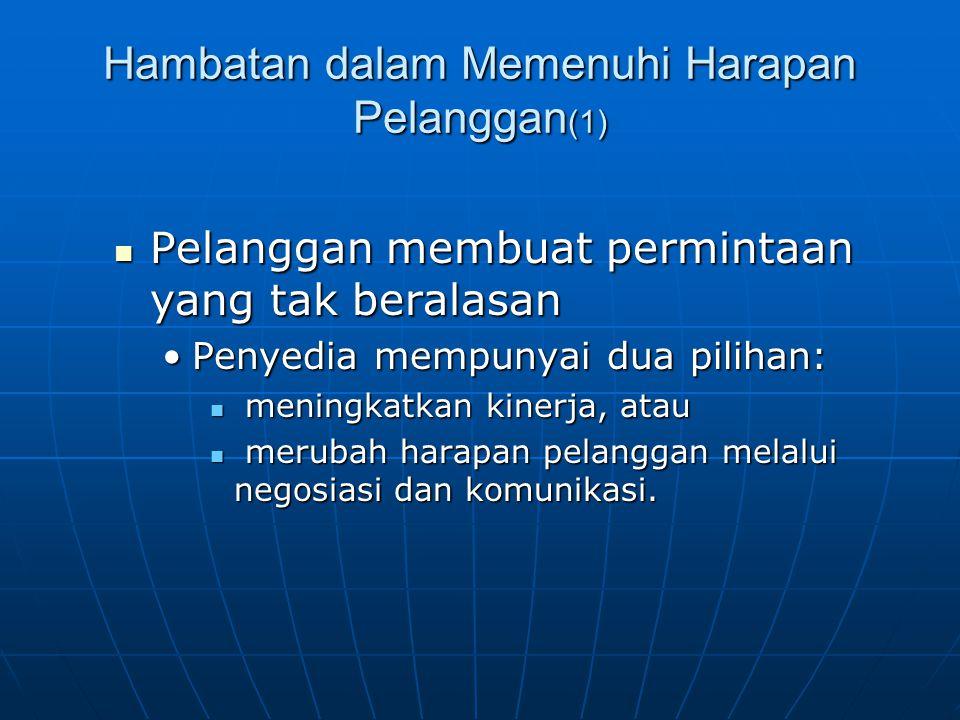 Hambatan dalam Memenuhi Harapan Pelanggan(1)