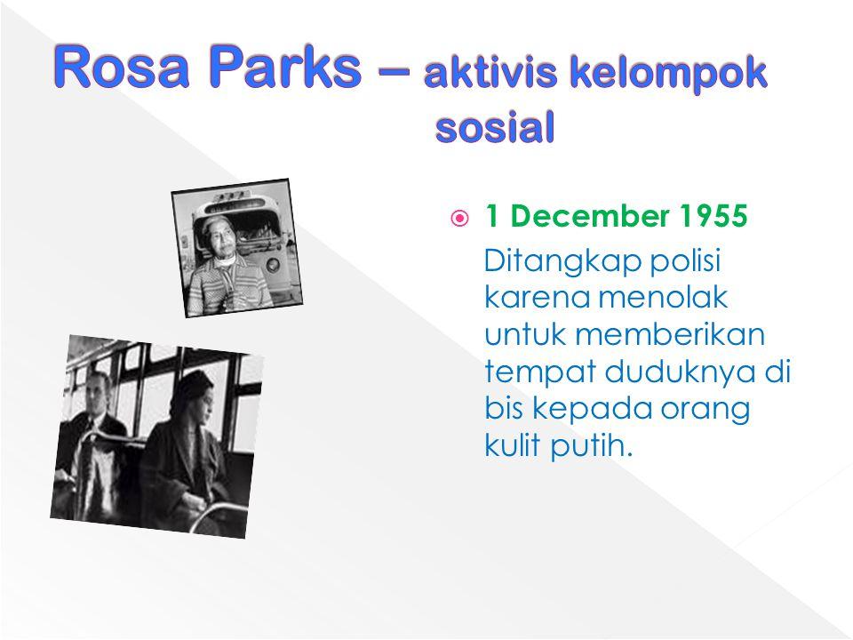 Rosa Parks – aktivis kelompok sosial