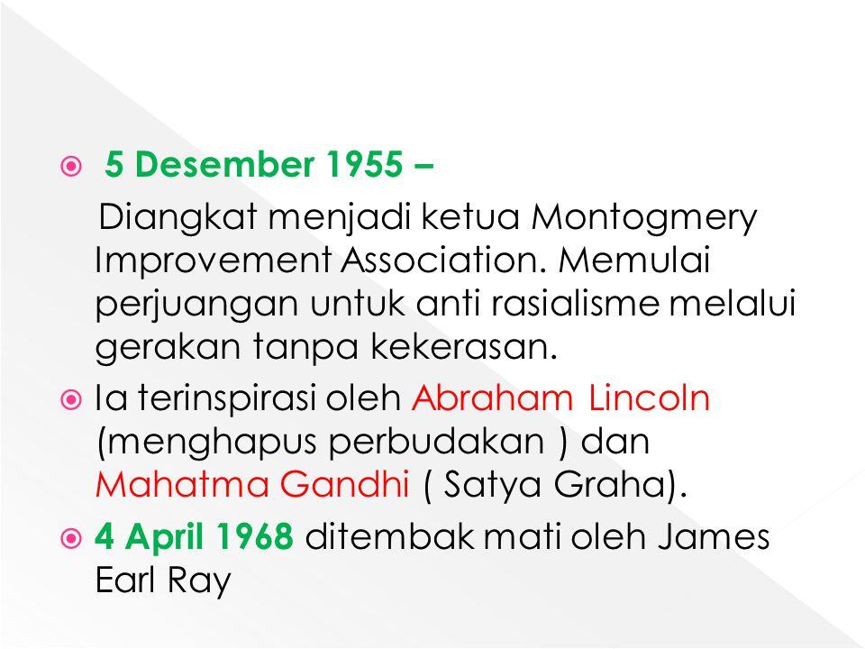 5 Desember 1955 –