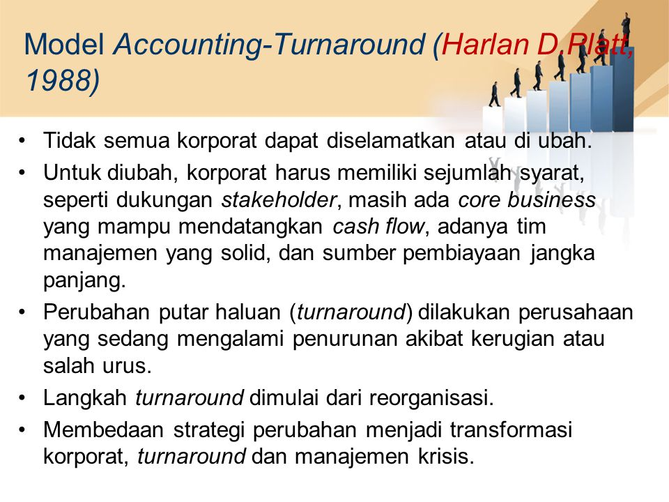 Model Accounting-Turnaround (Harlan D.Platt, 1988)