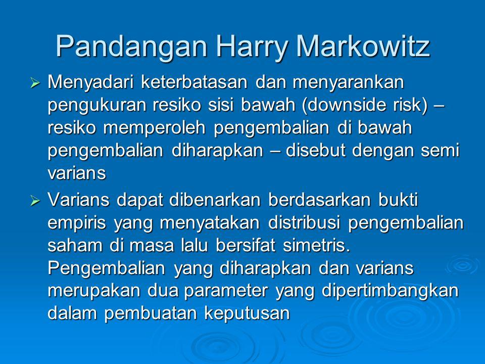 Pandangan Harry Markowitz