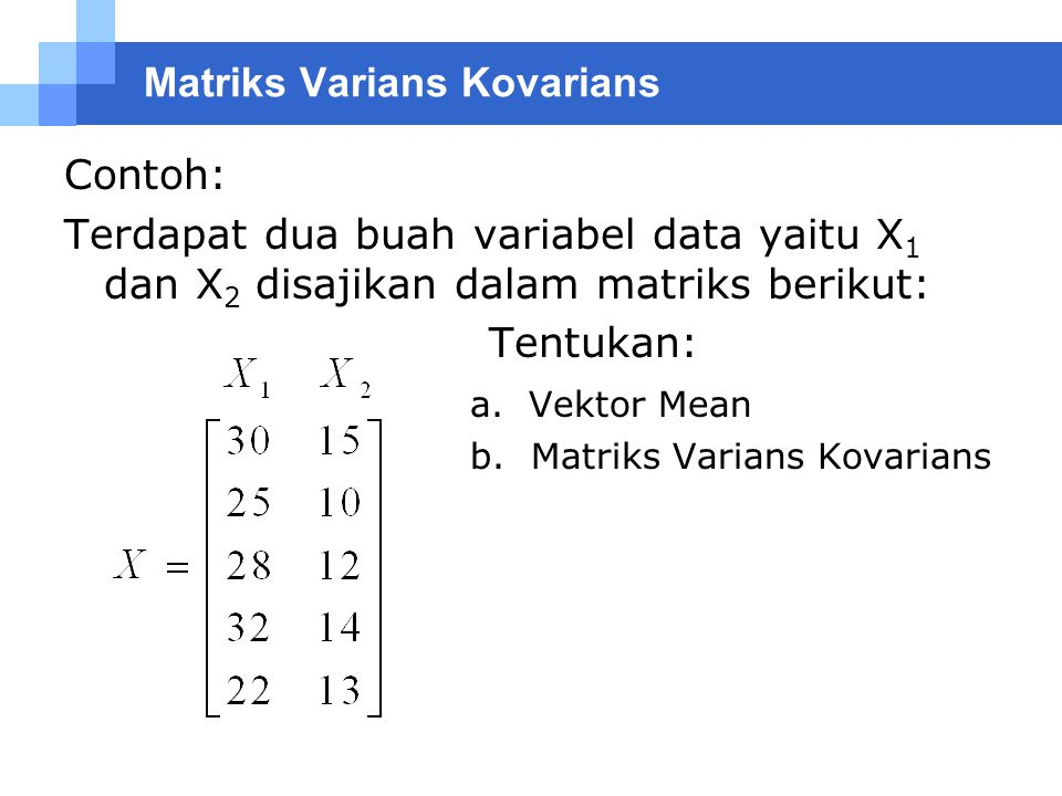 Matriks Varians Kovarians