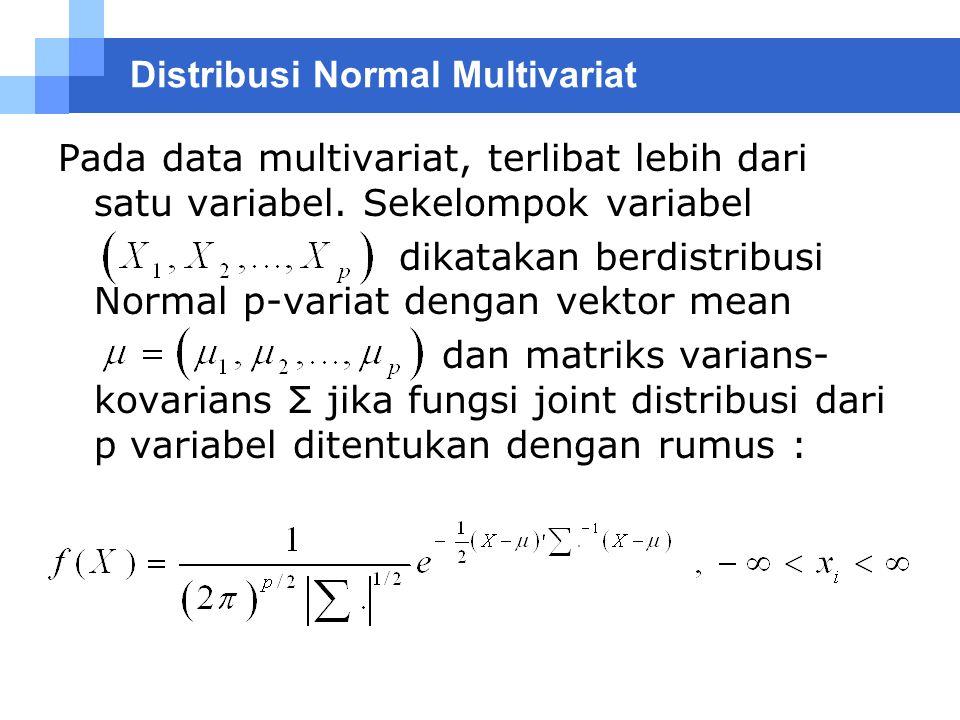 Distribusi Normal Multivariat