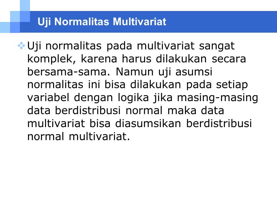 Uji Normalitas Multivariat