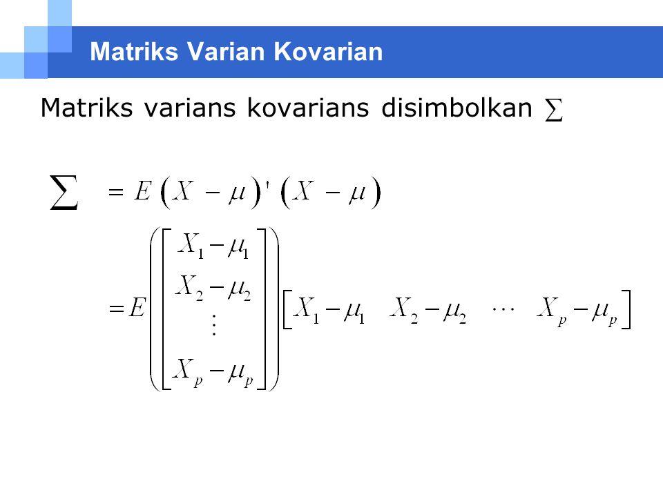 Matriks Varian Kovarian