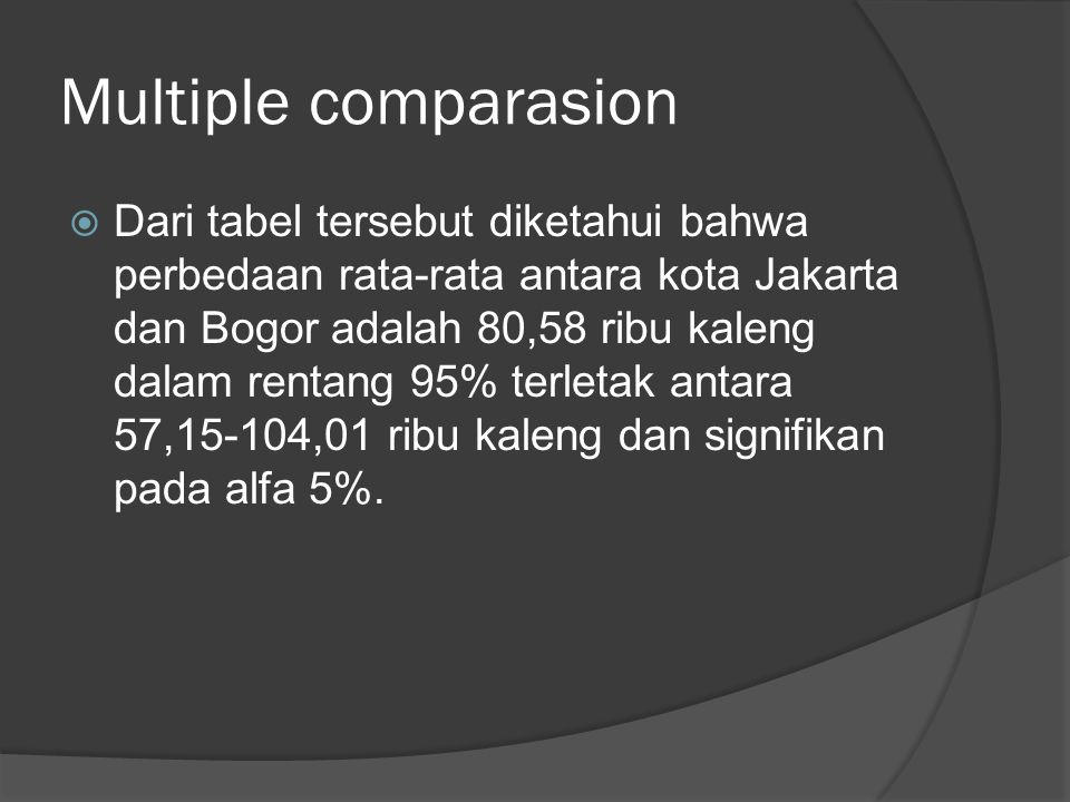 Multiple comparasion