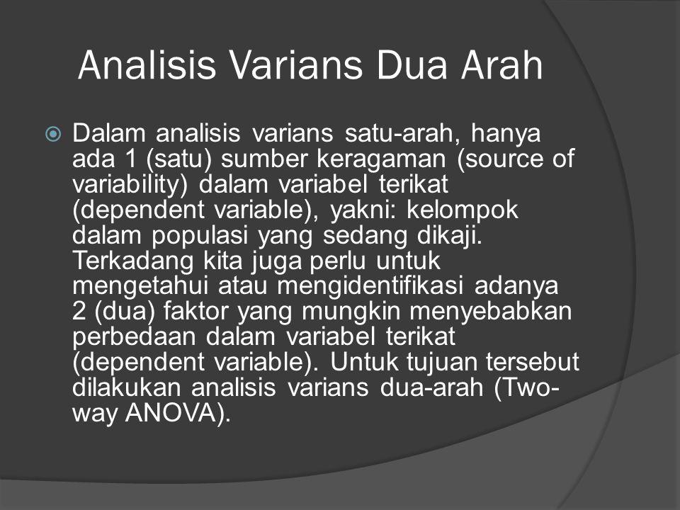 Analisis Varians Dua Arah