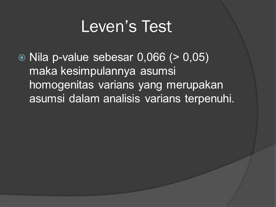 Leven's Test
