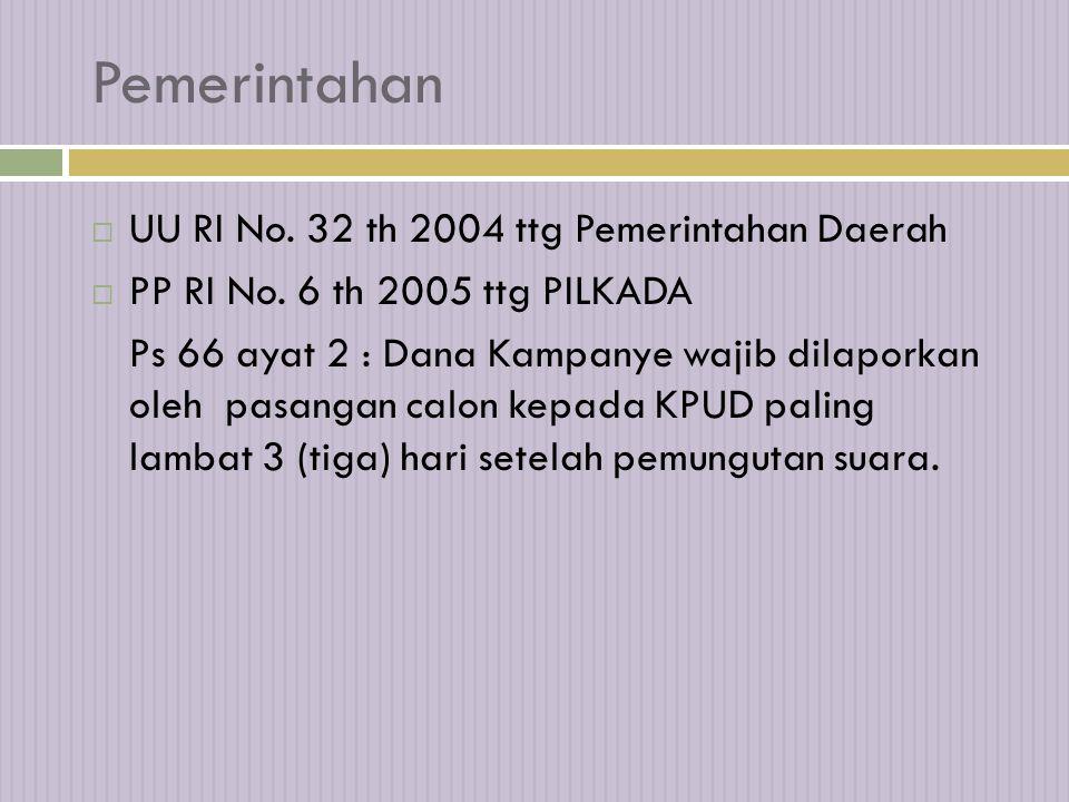 Pemerintahan UU RI No. 32 th 2004 ttg Pemerintahan Daerah